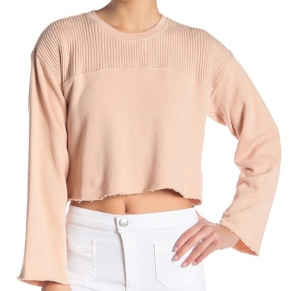 Current/Elliott Tops - Current/Elliott Acture Cropped Pullover Knit Top